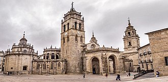 Lugo - Overview of the Cathedral of Santa María in the city of Lugo.