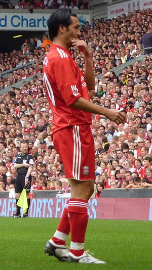 Luis García (footballer, born 1978) - García during Jamie Carragher's testimonial match (2010)