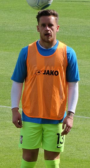 Luke Simpson - Simpson training with York City in 2016