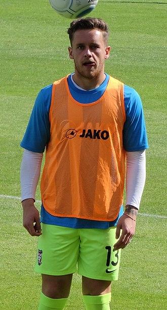 Luke Simpson - Simpson training with York City in 2016