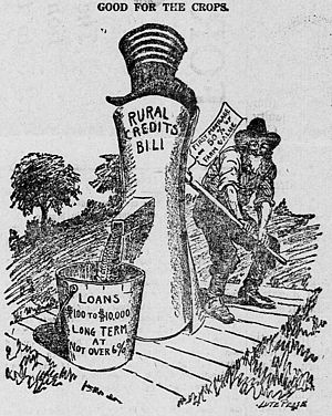 Lute Pease - Image: Lute Pease cartoon about the 1916 Federal Farm Loan Act