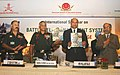 M.M. Pallam Raju releasing a souvenir `e-Kranti`, the Annual Newsletter of the Director General of Information Systems, at the inauguration of the two-day International Seminar on 'Battlefield Management System'.jpg