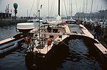 M30 1978 Bretagne, préparatifs de la Route du Rhum à Saint-Malo, trimaran Disque d'Or II (4987165501).jpg