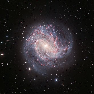 Intermediate spiral galaxy - Messier 83 is an intermediate spiral galaxy of type SABc located in the constellation Hydra.
