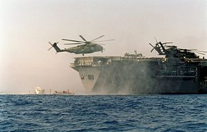 MH-53E lands on USS Inchon (MCS-12) in Adriatic Sea 1999.JPEG