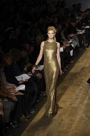 Fashion Designer, Michael Kors model struck th...
