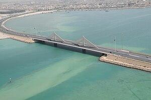 Transport in Bahrain - The bridge connecting Manama to Muharraq.