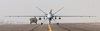 General Atomics MQ-9 Reaper - An MQ-9 taxiing in Afghanistan, 2007
