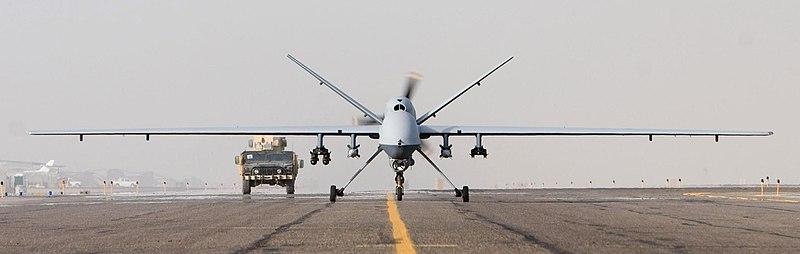 MQ-9 Afghanistan takeoff 1 Oct 07.JPG