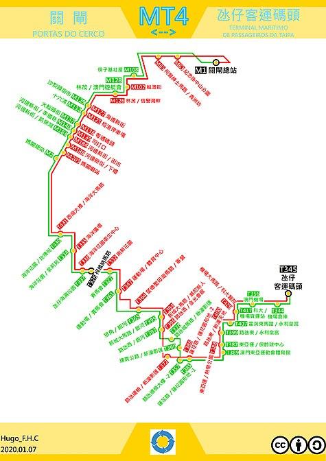澳門巴士mt4路線 维基百科,自由的百科全书