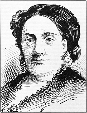 Madame Restell - Drawing of Ann Lohman (a.k.a. Madame Restell) based on a photograph, 1888
