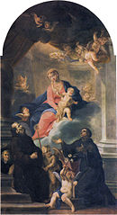 Madonna and child with Saints Francis and Anthony