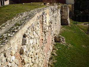 History of Madrid - Ruins of Madrid's Muslim wall, built in the 9th century.