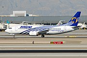 Magnicharters Boeing 737-322 (XA-UNM) at Las Vegas McCarran International Airport.jpg