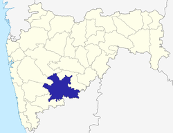 Location of Solapur district in Maharashtra