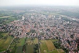Aerial photograph of Maintal-Bischofsheim, Hessen, Germany