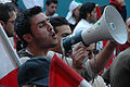 Male protester with loudspeaker during the Cedar Revolution.jpg
