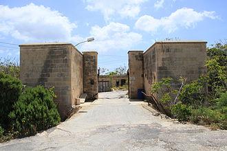 Fort Benghisa - The fort's gatehouse