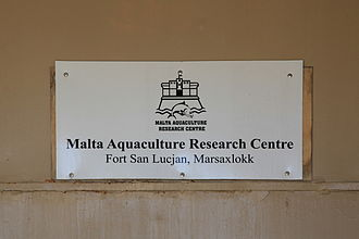 Fort San Lucian - Today the fort houses the Malta Aquaculture Research Centre