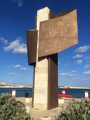 Malta Summit - Monument in Birżebbuġa commemorating the Malta Summit