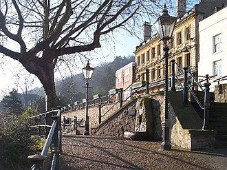 Great Malvern - Malvinha Fountain on Belle Vue Island not far from Elgar's statue and the Enigma Fountain