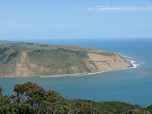 Manukau Heads - The South Head Viewed from above Burnett Head.