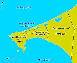 Pikine Wikipedia - Pikine map