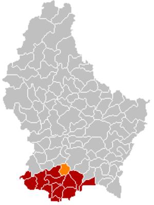 Leudelange - Image: Map Leudelange
