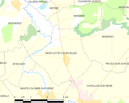Montliot-et-Courcelles – Mappa