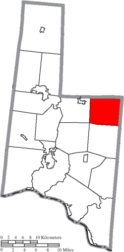 Location of Eagle Township in Brown County
