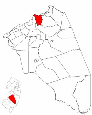 Florence Township, New Jersey - Image: Map of Burlington County highlighting Florence Township