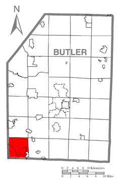 Map of Cranberry Township, Butler County, Pennsylvania Highlighted.png