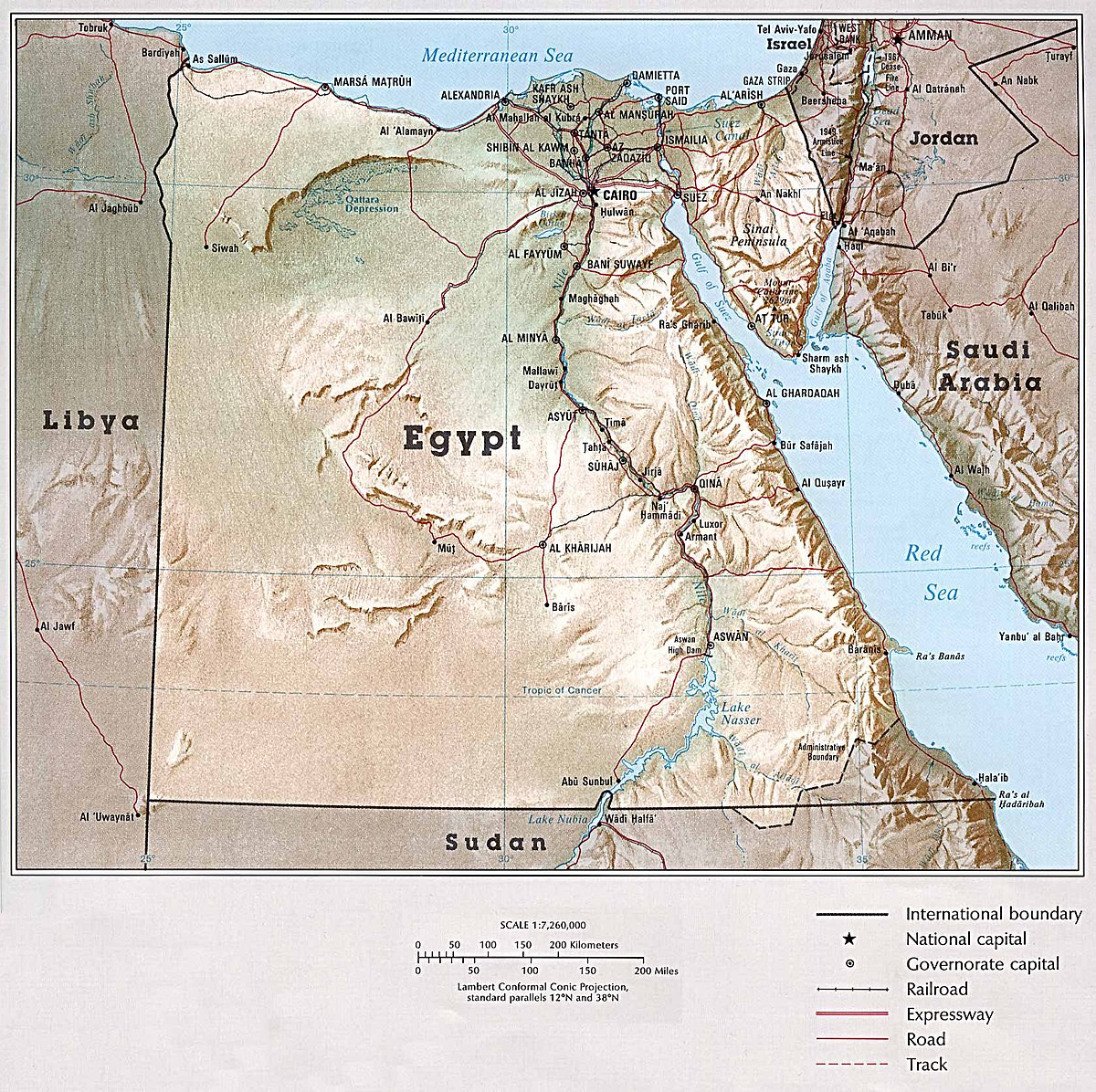 Picture of: File Map Of Egypt Atlas Of The Middle East 1993 Jpg Wikimedia Commons