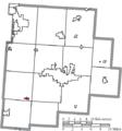 Map of Fairfield County Ohio Highlighting Amanda Village.png