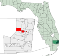 Map of Florida highlighting Tamarac.png