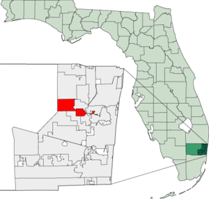 Map of Florida highlighting Tamarac.png