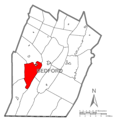 Map of Harrison Township, Bedford County, Pennsylvania Highlighted.png