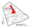 Map of Lebanon County, Pennsylvania Highlighting Swatara Township.PNG