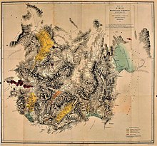 print: map of Lycia, 1842