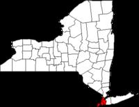 Localización en el estado de Nueva York