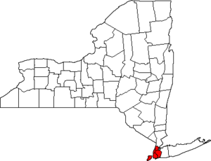 Map of New York Highlighting New York City