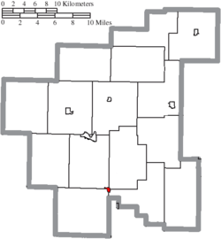 Location of Dexter City in Noble County
