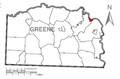 Map of Rices Landing, Greene County, Pennsylvania Highlighted.png