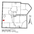 Map of S.N.P.J., Lawrence County, Pennsylvania Highlighted.png