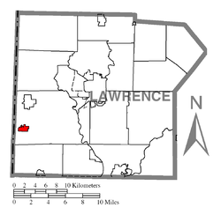 Location of S.N.P.J. in Lawrence County