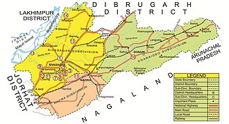 Sivasagar - Map of Sivasagar