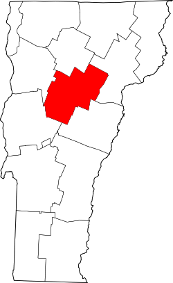 Map of Vermont highlighting Washington County.svg