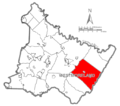 Map of Westmoreland County, Pennsylvania Highlighting Ligonier Township.PNG