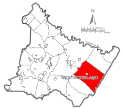 Map of Westmoreland County, Pennsylvania Highlighting Ligonier Township.PNG