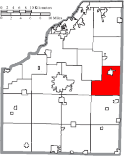 Location of Freedom Township in Wood County